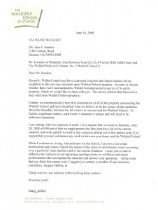 Waldorf Letter to Conway Neighbors June 16, 2008