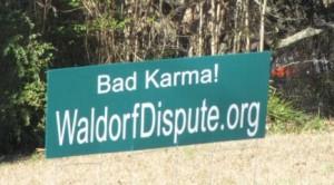 Waldorf Dispute Signs